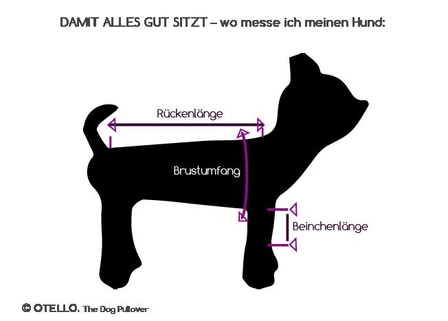 OTELLO. Hunde-Pullover Mannequin